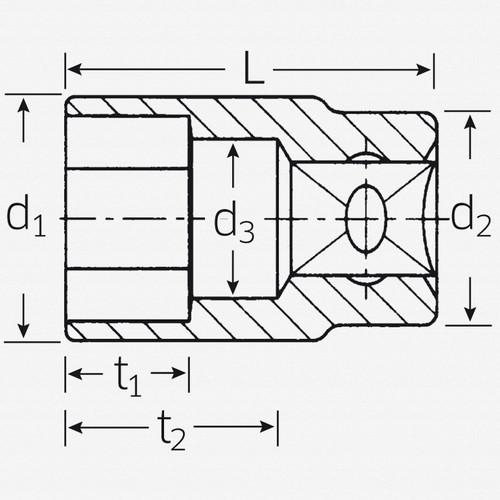 "Stahlwille 456 3/8"" 6-pt Socket, 13 mm - KC Tool"