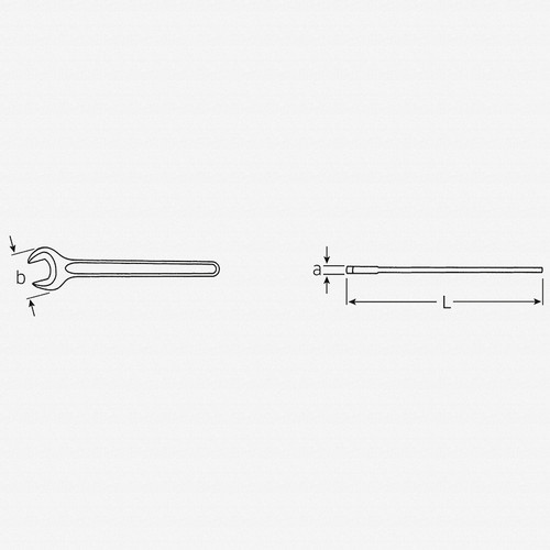Stahlwille 4004 Single-end Spanner, 24 mm - KC Tool