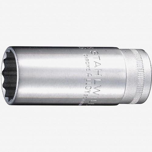 "Stahlwille 46 Extra Deep 3/8"" 12-pt Socket, 20.8mm - 13/16"" - KC Tool"