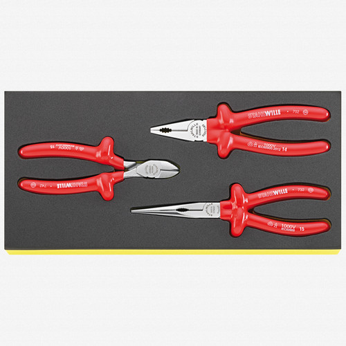 Stahlwille TCS 6501-6600/3 Set of pliers in TCS inlay - KC Tool