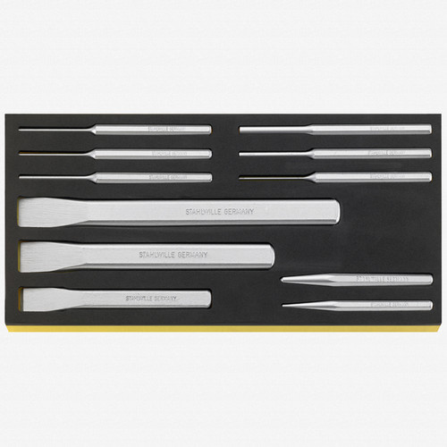 Stahlwille TCS 102-108/11 Chisels, punches in TCS inlay - KC Tool