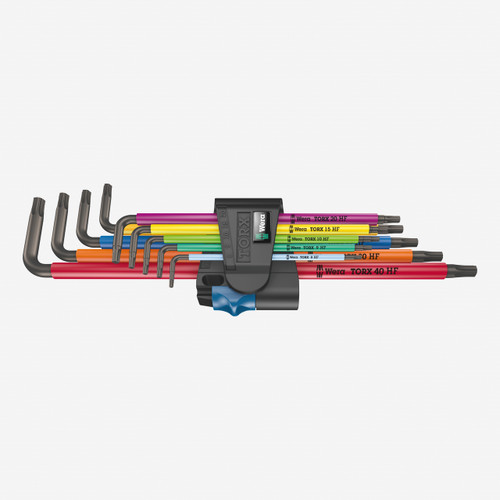 Wera 024470 967/9 TX XL Multicolour 1 L-key Set with Holding Function, long - KC Tool
