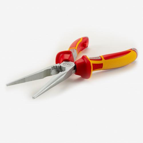 "NWS 140-49-VDE-205 8"" Chain Nose Pliers (Radio Pliers) VDE - Matte Chromium - SoftGripp - KC Tool"