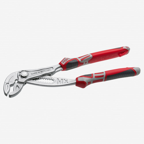 "NWS 1660-49-250 10"" Waterpump Pliers Maxi M - xMatte Chromium - SoftGripp - KC Tool"