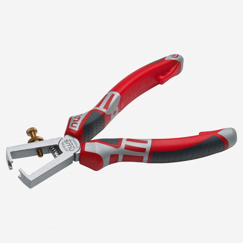 """NWS 145-49-160 6.25"""" Wire Stripping Pliers - Matte Chromium - SoftGripp - KC Tool"""