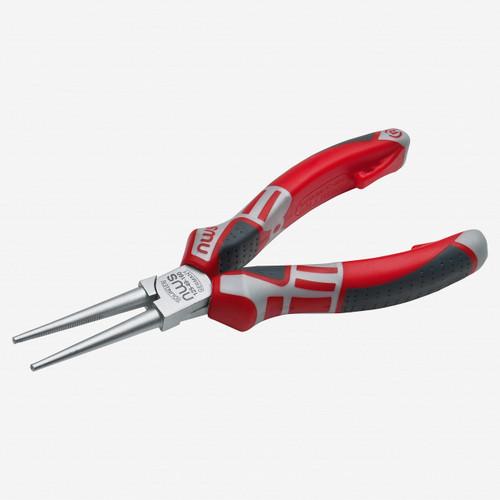 "NWS 125-49-160 6.25"" Long Round Nose Pliers - Matte Chromium - SoftGripp - KC Tool"