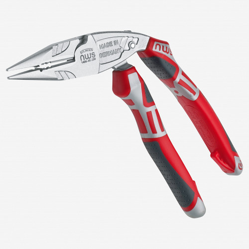 "NWS 1406-49-200 8"" Ergonomical Electrician's Pliers ErgoMulti - Matte Chromium - SoftGripp - KC Tool"