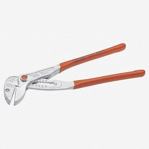 "NWS 166K-42-250 10"" Fittings Pliers PowerMax-Matte Chromium - Plastic Grip - KC Tool"