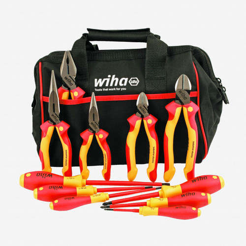 Wiha 32977 Insulated Industrial Cutters/Drivers Set, 11 pcs - KC Tool
