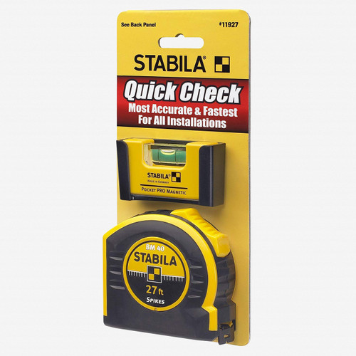Stabila 11927 Quick Check Pocket Pro and 27' Tape - KC Tool