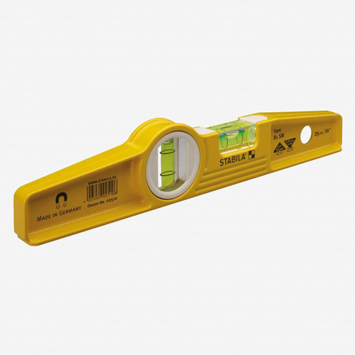 "Stabila 25100 Model 81SM 10"" Die Cast Magnetic Torpedo Level - KC Tool"
