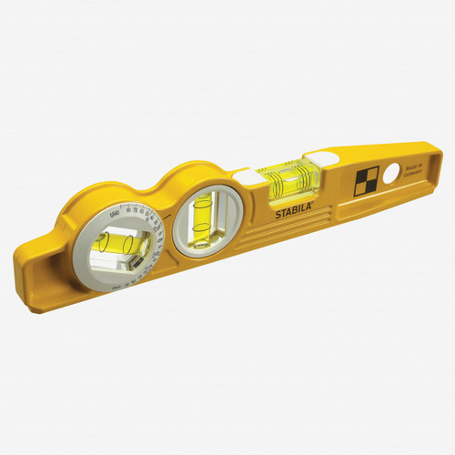 """Stabila 25360 Type 81SMW360 Die Cast Torpedo Level with Protractor Vial and V-groove, 10"""" - KC Tool"""