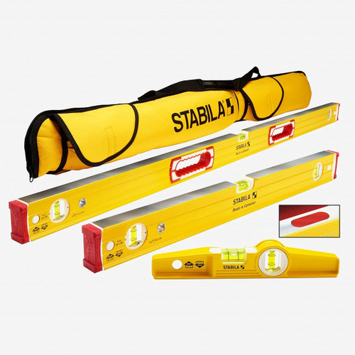 Stabila 48380 Type 96M Magnetic 3 Level Set with Case - KC Tool