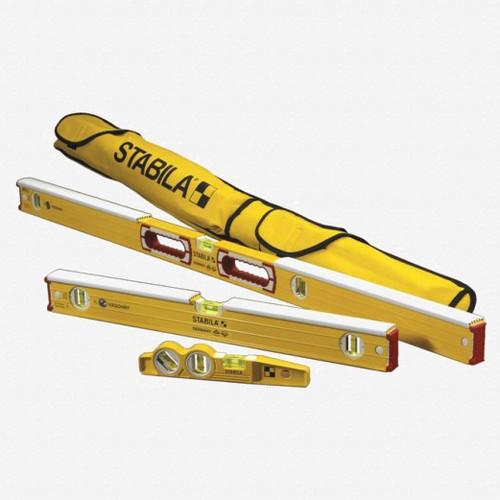 Stabila 48296 Type 96K Mason's 3 Level Set with Case - KC Tool