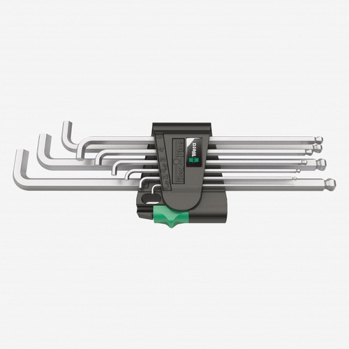 Wera 073594 Hex + Ball End Hex Metric L-key Clip Set - KC Tool
