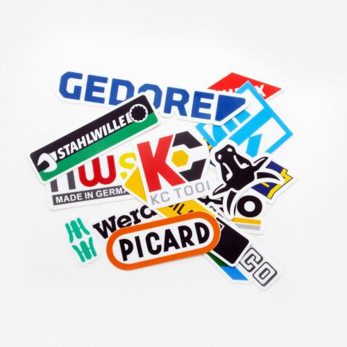 German Tool Brands Sticker Pack, 10 pieces - KC Tool