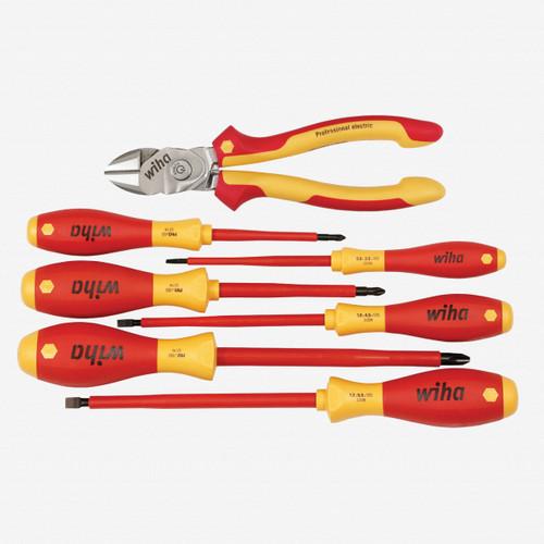 Wiha 32857 Insulated BiCut SuperCut & Screwdriver Set, 7 Pieces - KC Tool