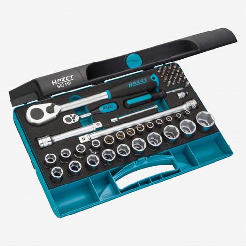 """Hazet 953HP 1/4"""" and 1/2"""" Drive Socket Set, 47 Pieces - KC Tool"""