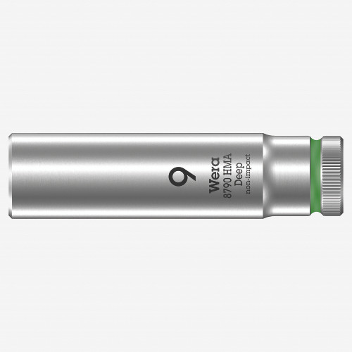 Wera 004506 Deep Socket, 9.0 x 1/4 - KC Tool