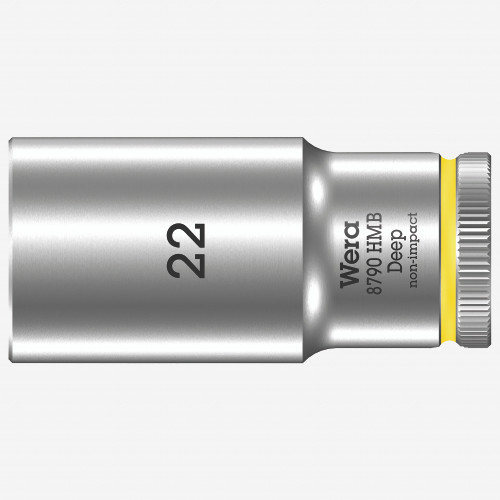 "Wera 004544 Deep Socket, 22 x 3/8"" - KC Tool"