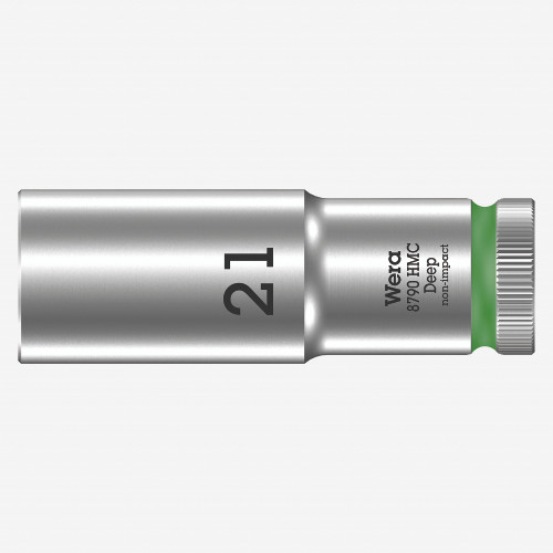 "Wera 004561 Deep Socket, 21 x 1/2"" -KC Tool"
