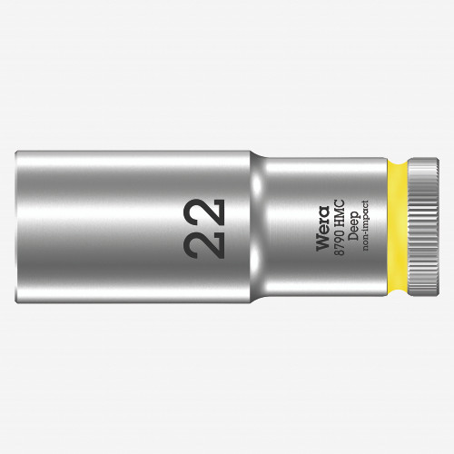 "Wera 004562 Deep Socket, 22 x 1/2"" - KC Tool"