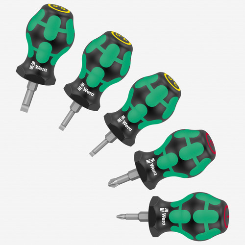 Wera 008870 Phillips and Slotted Stubby Set 1, 5 Pieces