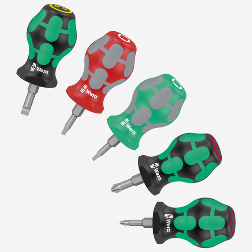 Wera 008872 Square/Phillips/Slotted Stubby Set 3, 5 Pieces (WR008872) KC Tool