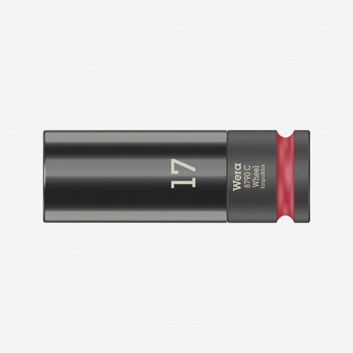 "Wera 004590 Lug Nut 1/2"" Impact Socket with Plastic Sleeve, 17mm (WR004590) - KC Tool"
