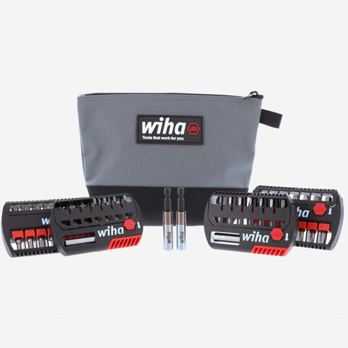 Wiha 76886 Terminator Impact Bits Set with Zipper Pouch, 34 Pieces