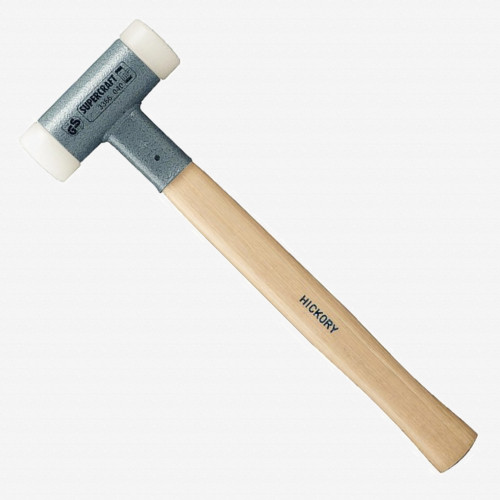 "Halder Supercraft Dead Blow, Non-Rebounding Hammer with Nylon Face Inserts and Steel Housing, 1.38"" / 19.75 oz. - KC Tool"