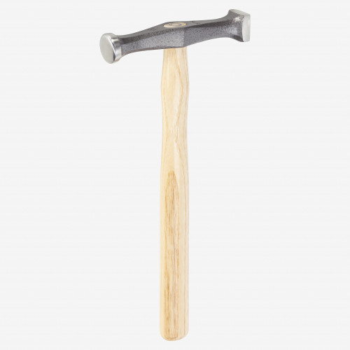 Picard 13.2oz Planishing Hammer round channel slightly arched, sqaure flat channel, finely polished - KC Tool
