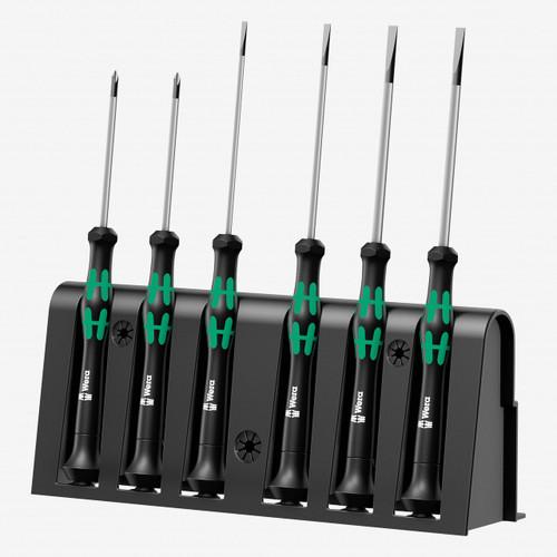 Wera 118150 Kraftform Micro Slotted/Phillips Precision Screwdriver Set + Rack - KC Tool