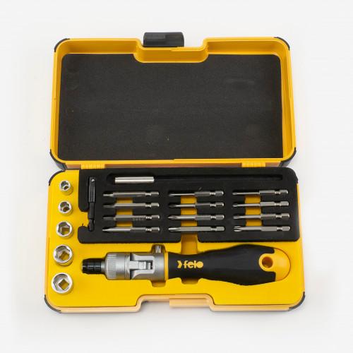 Felo 64515 Ergonic K Handle Ratcheting Screwdriver Box Set, 20 Pieces - KC Tool