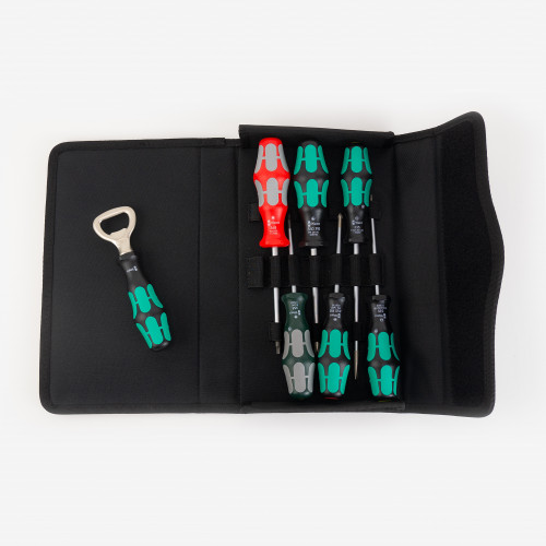 Wera 105626 Kraftform Plus 300/7 Screwdriver Set 4, PH/SL/SQ, 7 Pieces - KC Tool