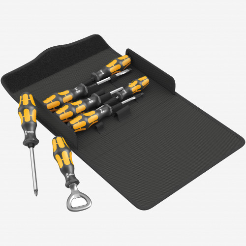 Wera 137813 Kraftform 900/7 Chiseldriver Screwdriver Set 3, PZ/SL, 7 Pieces (WR137813)