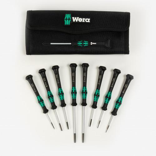 Wera 073678 Kraftform Micro-Set/8 A Slotted Screwdriver Set, 8 Pieces - KC Tool