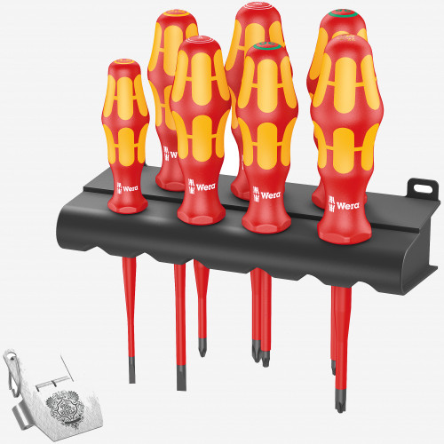 Wera 138712 Kraftform VDE/7 Heavy Metal 2 Screwdriver Set (WR138712)