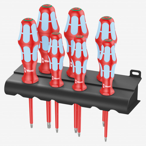 Wera 022767 VDE Insulated Stainless Steel Torx Screwdriver Set, 7 Pieces - KC Tool