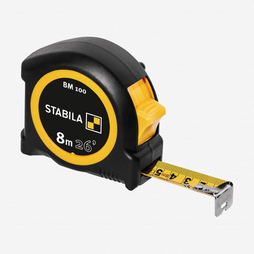 Stabila 30826 Type BM100 Tape Measure, 8m/26ft - KC Tool