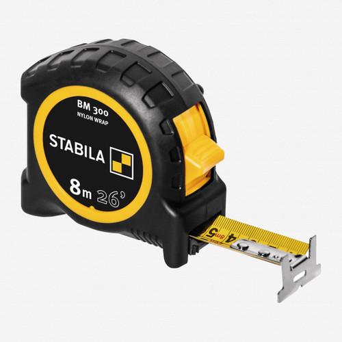 Stabila 30626 Type BM300 Tape Measure, 8m/26ft