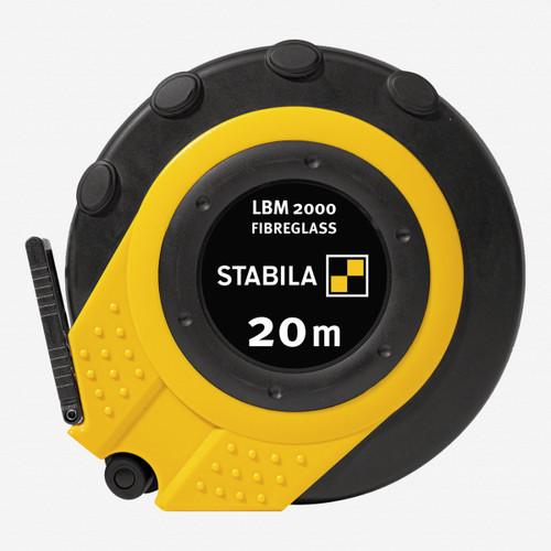 Stabila 30940 LBM2000 Steel Close Cased Tape, Metric Scale, 20m - KC Tool