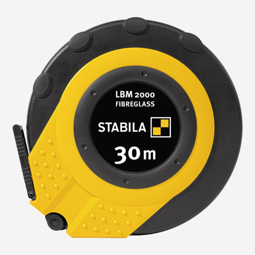 Stabila 30945 LBM2000 Steel Close Cased Tape, Metric Scale, 30m - KC Tool