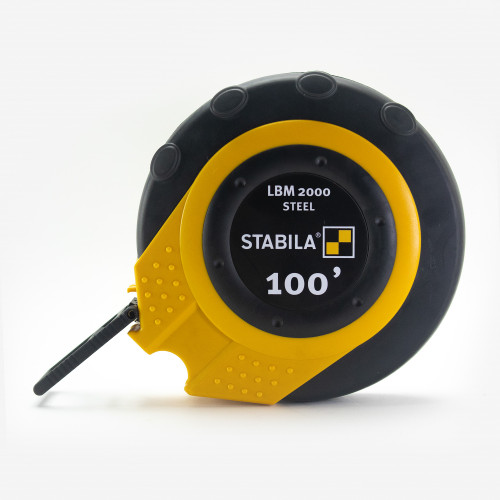 Stabila 30955 LBM2000 Steel Close Cased Tape, Imperial Scale, 100ft  - KC Tool
