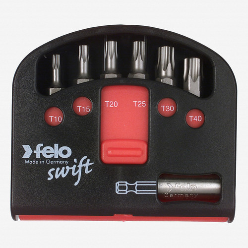 Felo 51395 Swift Box 6 piece Bits and Magnetholder - T10-T40 - KC Tool