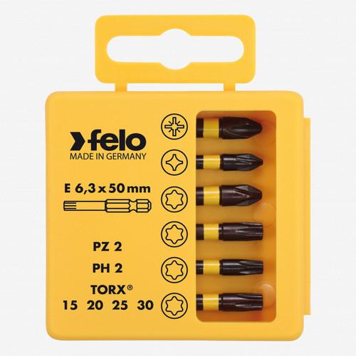 "Felo 63067 Profi Bit Box 6 Phillips PoziDrive Torx Bits x 2"" - KC Tool"