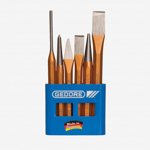 Gedore 106 Chisel and punch set 6 pcs in plastic holder - KC Tool