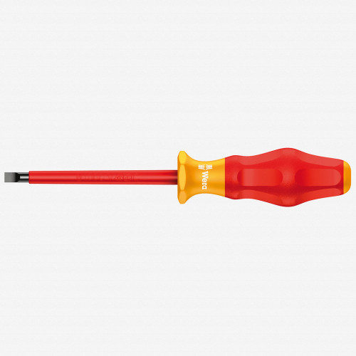 Wera 031585 5.5 x 200mm VDE Insulated Slotted Screwdriver - KC Tool