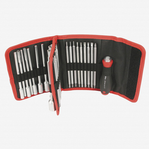 Wiha 28188 Drive-Loc VI Blade Set in Folding Wallet, 32 Pieces - KC Tool