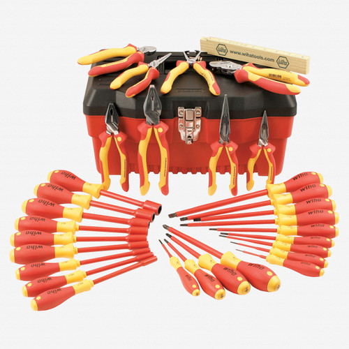 Wiha 32896 31 Piece Insulated Master Electrician's Tool Box - KC Tool